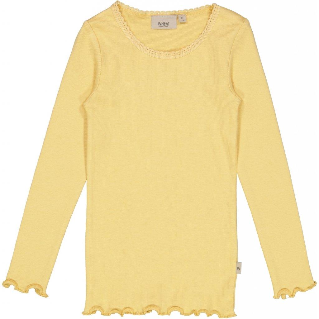 Wheat - Rib T-Shirt Lace LS,  sahara sun