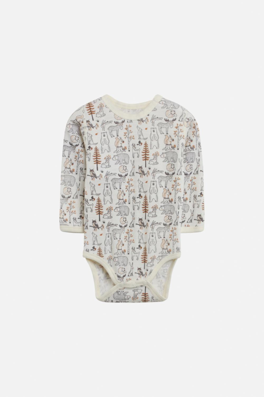 Hust and Claire - AW 20 Body Bo skog i merionoull, offwhite