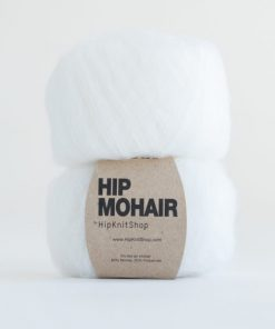 Hip mohair Cotton ball white