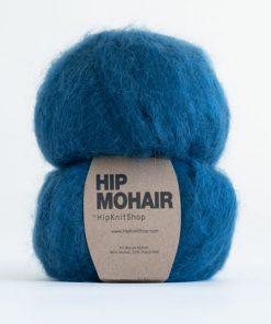 Hip mohair Petrol blå