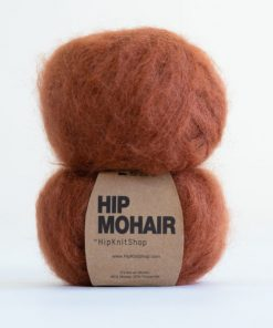 Hip mohair Chestnut brown