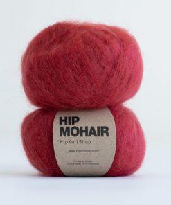 Hip mohair Berrylicious rød