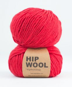 Hip wool Verry berry red