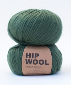 Hip wool Dark olive grønn