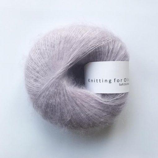 Soft silk mohair Enhørninglilla