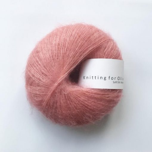 Soft silk mohair Flamingo