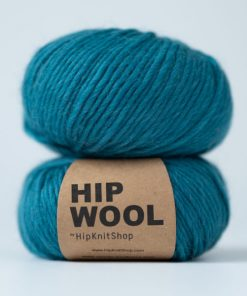 Hip wool blue waves