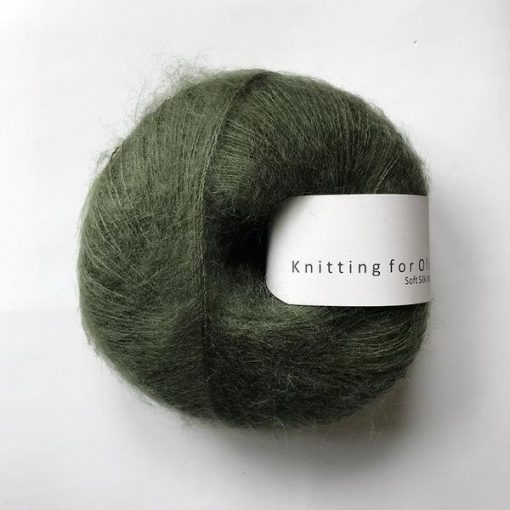 Soft silk mohair Falskegrøn