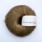 Soft silk mohair nøddebrun