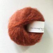 Soft silk mohair Rust