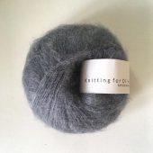 Soft silk mohair Støvet petroleumsblå