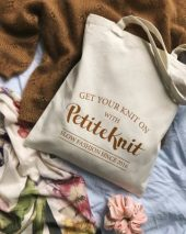 "Petiteknit totebag ""Get your knit on"""