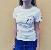 T-skjorte white #Nevernotknitting