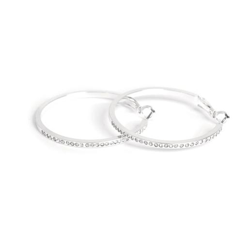 A&C Standard ringer, sølv m/krystal, ørepynt