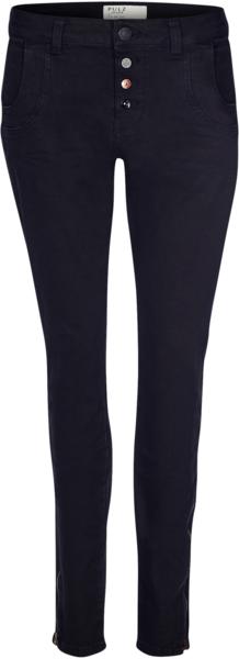 Pulz Melina loose svart  jeans glidlås nede
