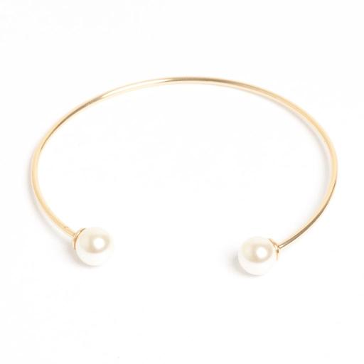 A&C Standard armbånd gull med perle