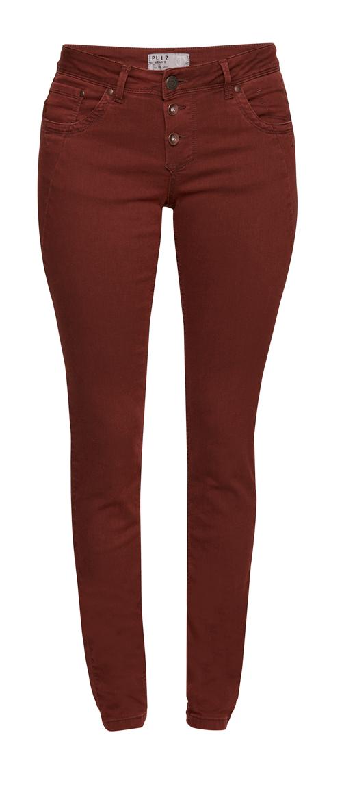 50200200 Pulz Rosa Skinny Pant Farget Jeans