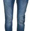 Pulz Maiken Loose jeans mellomblå, knapper i gylf