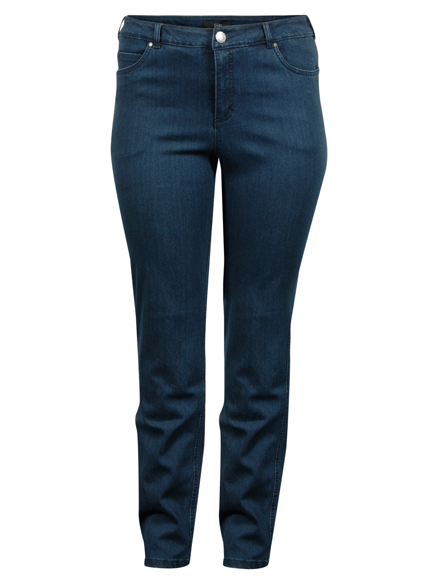 Ciso Rose denim pants, regular fit, denimblå