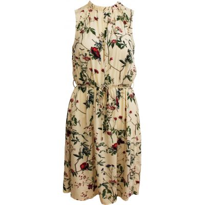 Caddis Fly Jenine gul blomstermønsret kjole i viskose