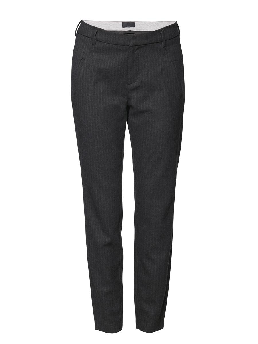 Pulz Nightly Bukse sort, stripet 7/8-lengde
