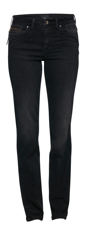 Pulz Karolina sort stretch jeans, rette ben og rette hofter