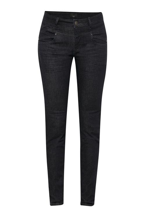 Pulz Mørk marineblå Carmen jeans smal stretch modell