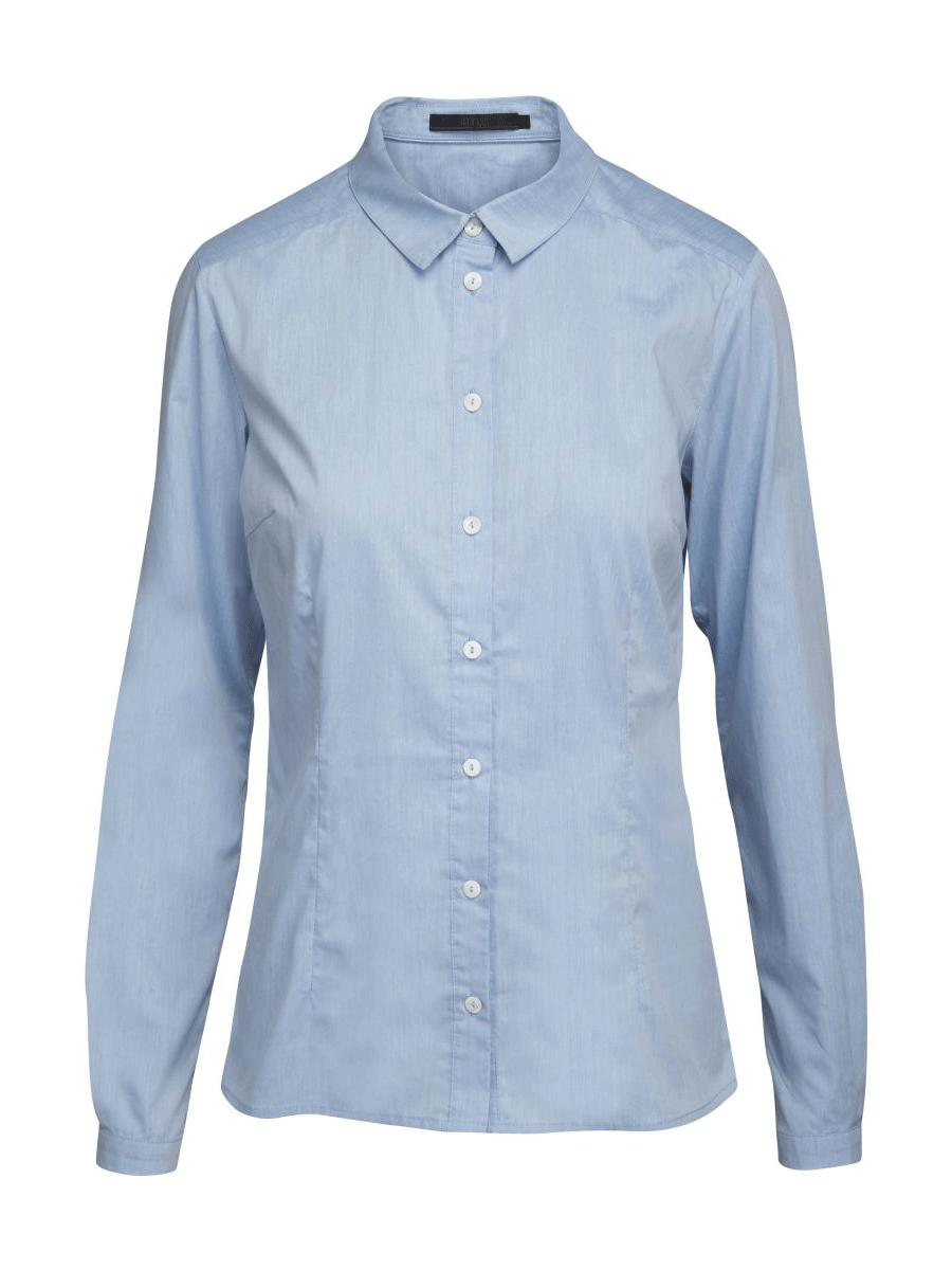 Minus Quinn Shirt, lysblå stretch skjorte