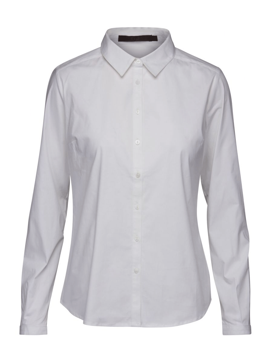 Minus Quinn Shirt, hvit stretch skjorte