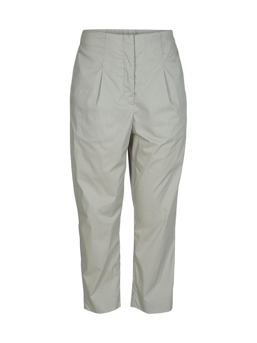 And Less Bellflower pants stripe, olivengrønn