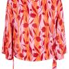 Nümph Cantara Blouse, mønstret rosa/rød