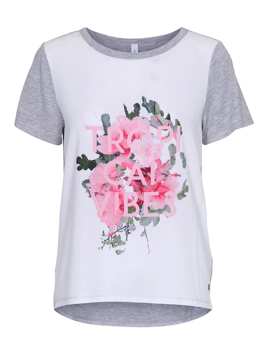 Soyaconcept Sc-Due 28, rosamønstret t-shirt