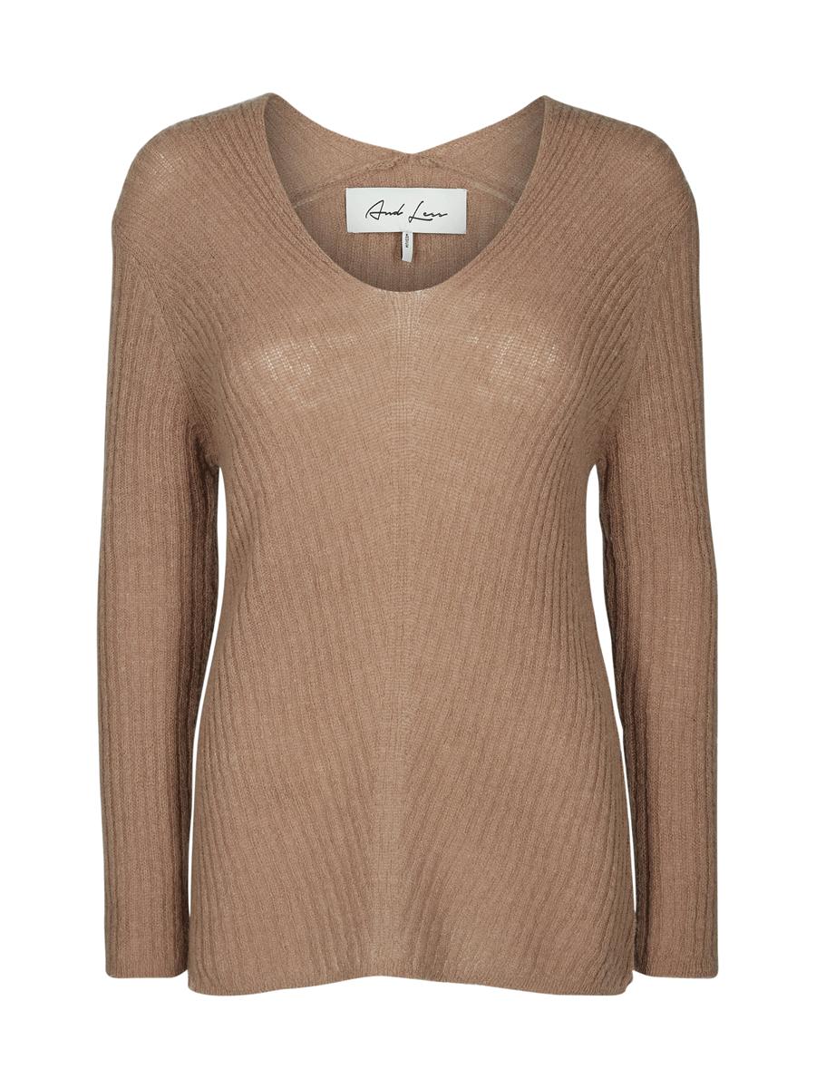 And Less Karina Pullover, lysbrun genser