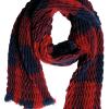 Ciso Scarf, rød/marineblå skjerf