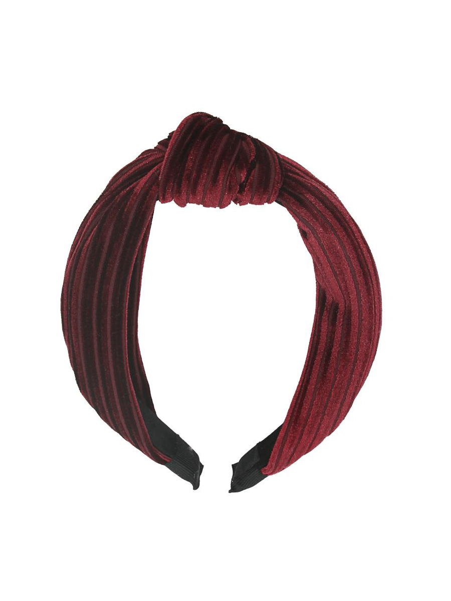 IntexSkandia AS, hårbøyle, velour, burgunder