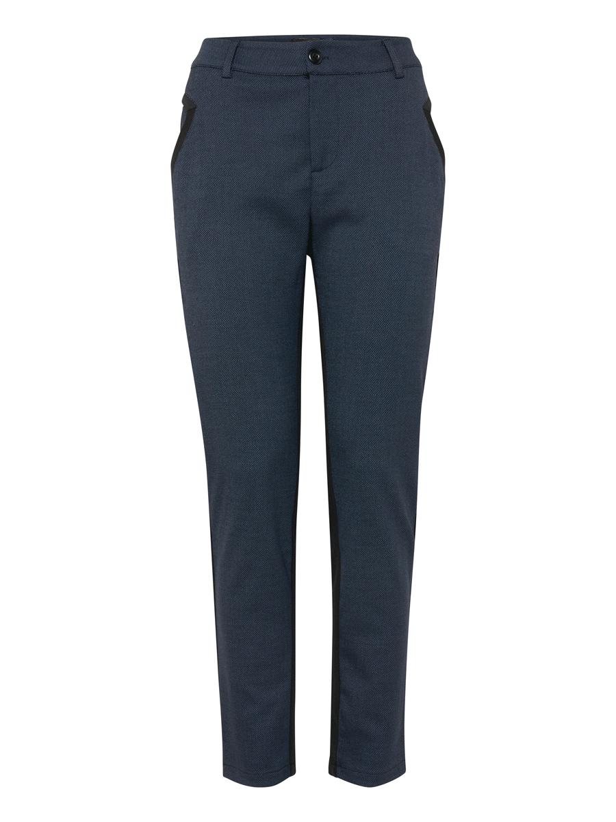 Pulz Kikki pants, merlert blå/sort