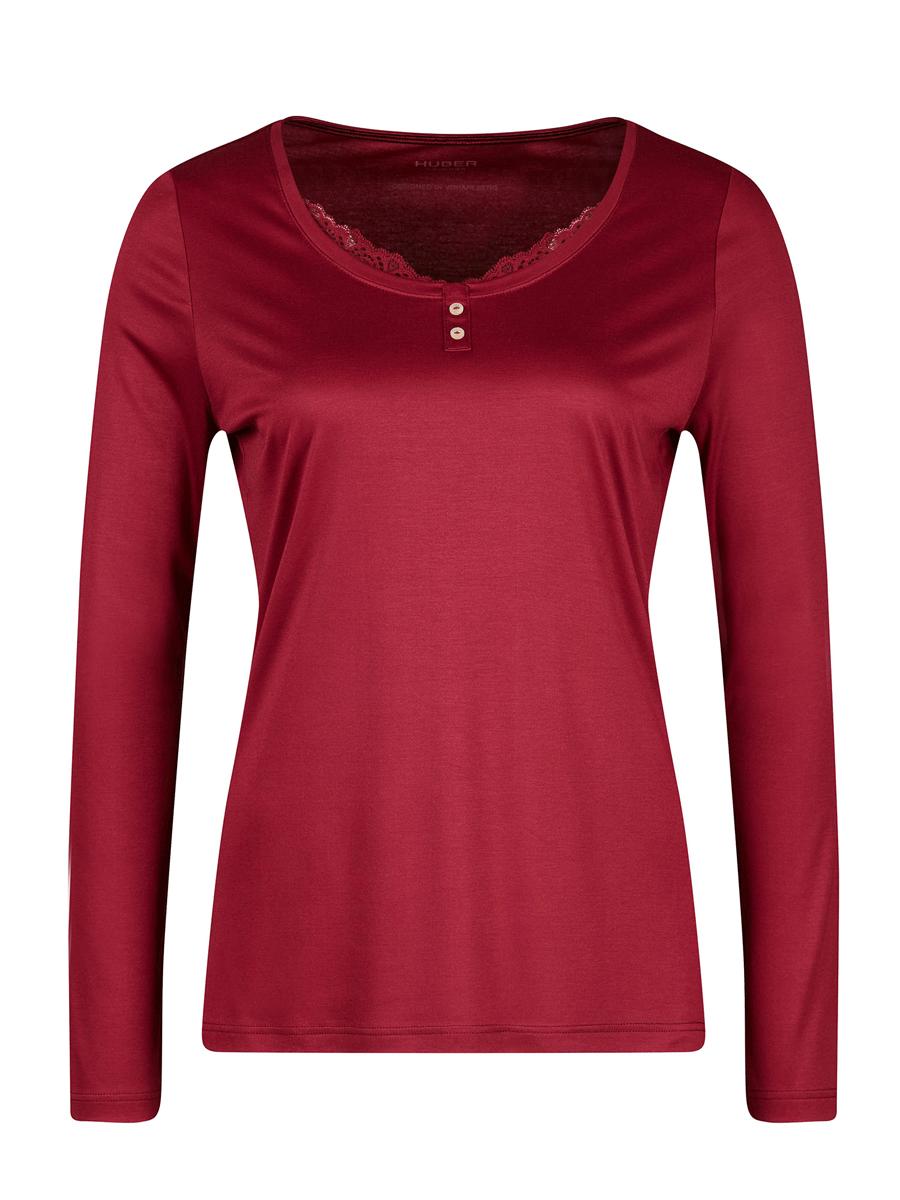Huber Christmas Dreams NW, long sleeve shirt, rød nattrøye