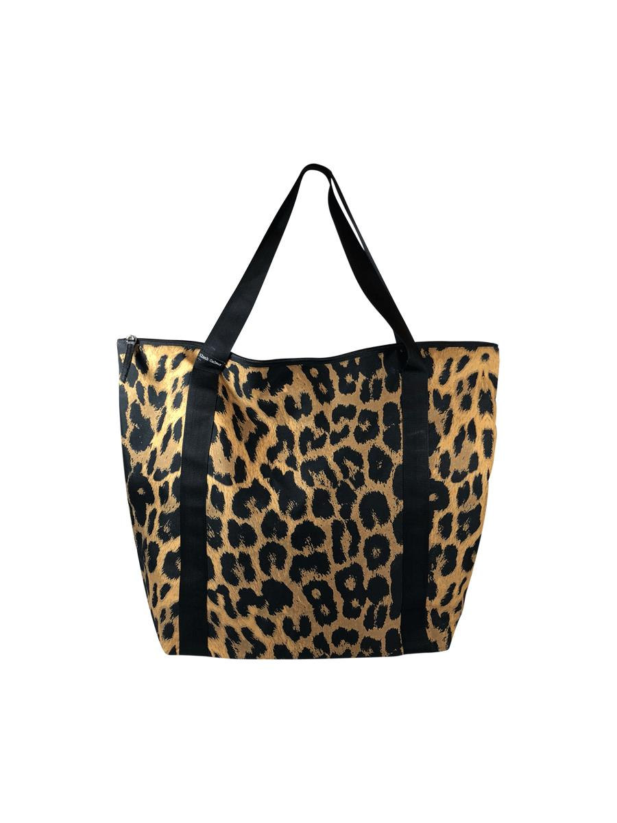 Black Colour Ally shopper bag, Leo Mustrad