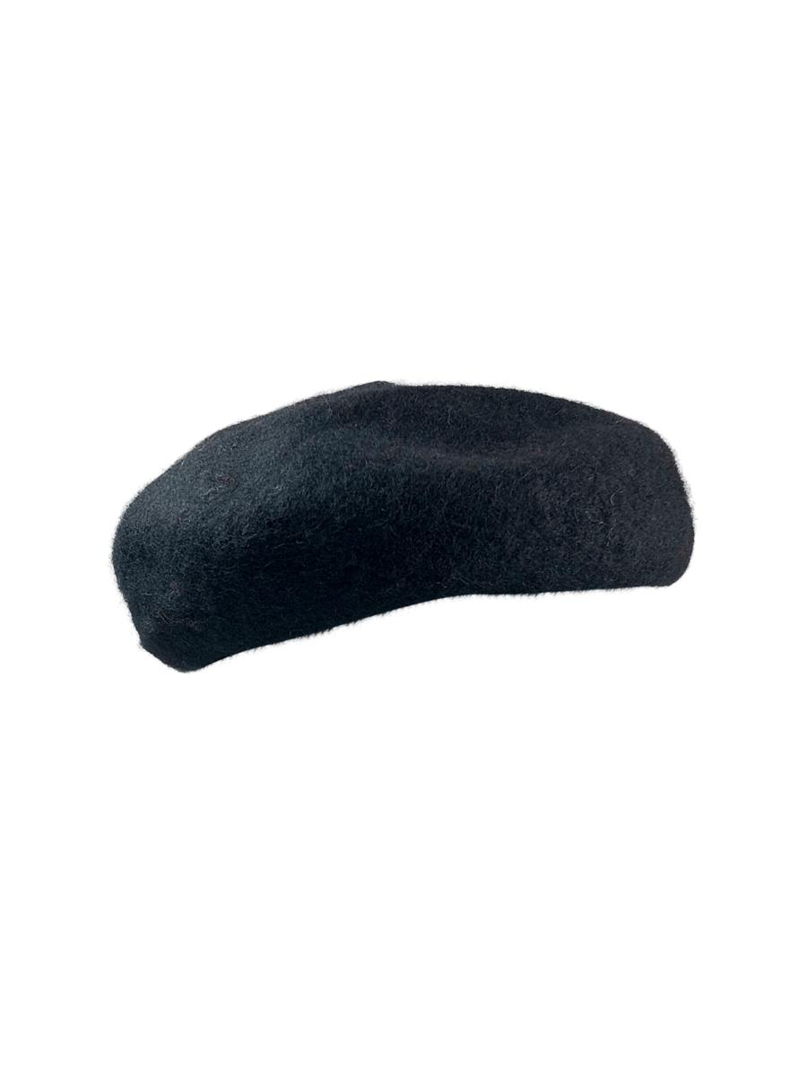 Black Colour Parisienne barret hat, black
