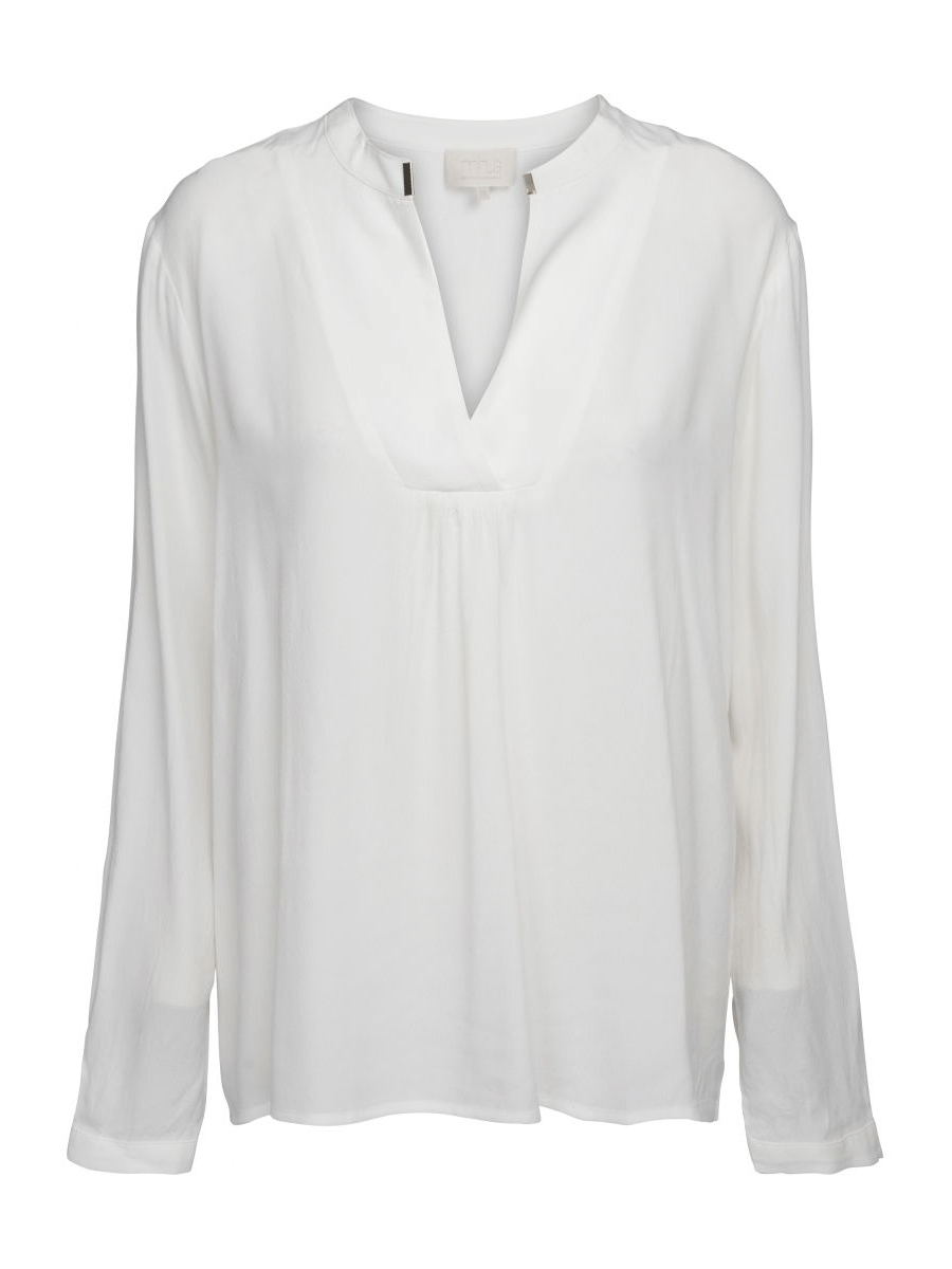 Minus Lilja SL blouse, langermet bluse, offwhite