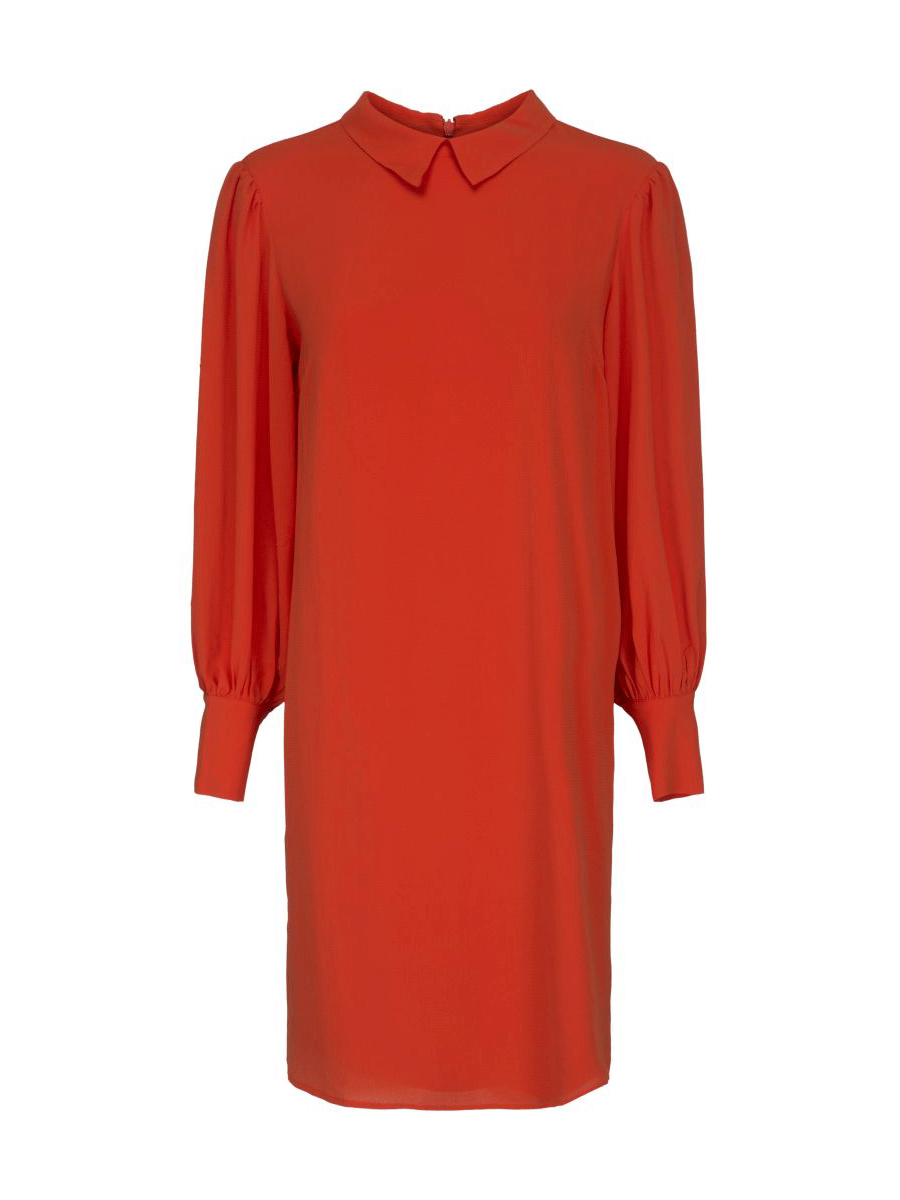 Minus Madeline dress, orange langermet kjole