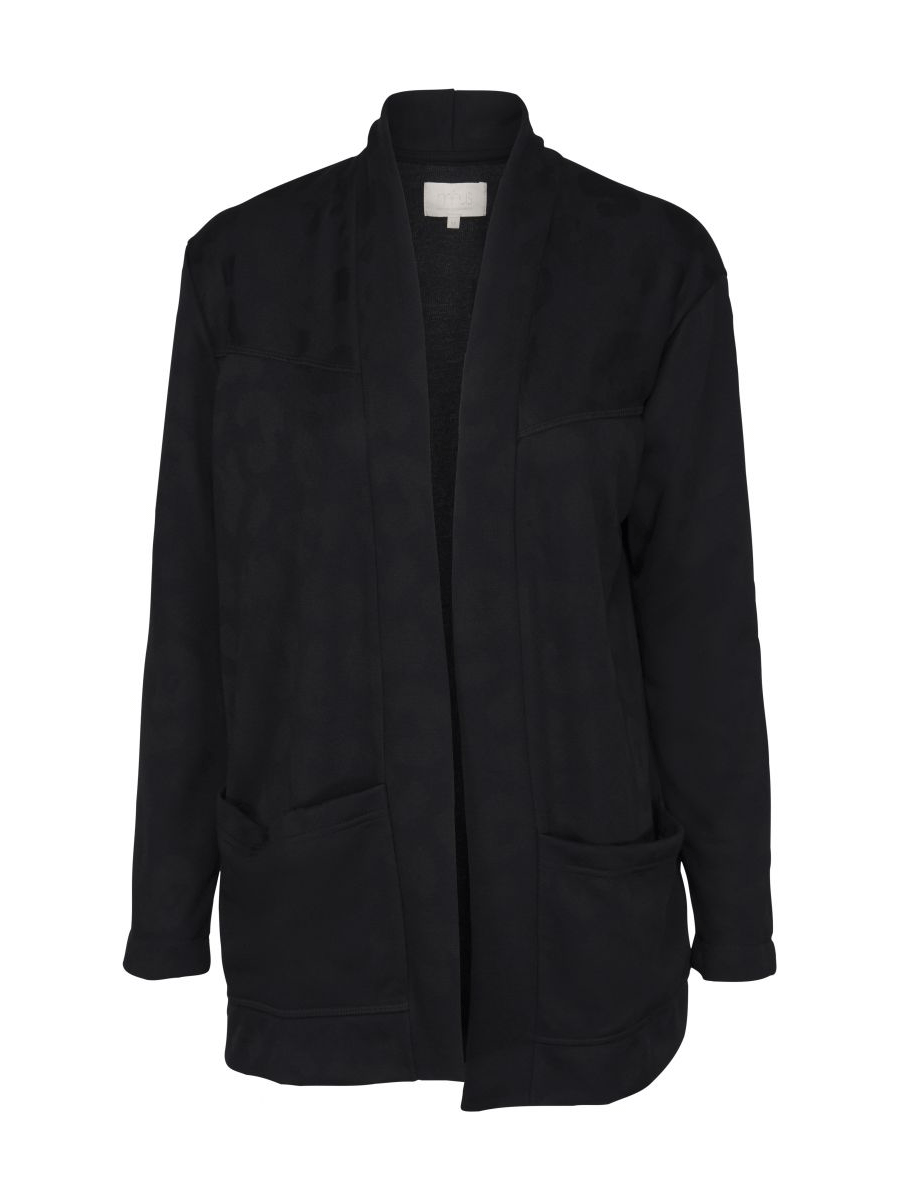 Minus Runa Sweat Jacket, sort jakke