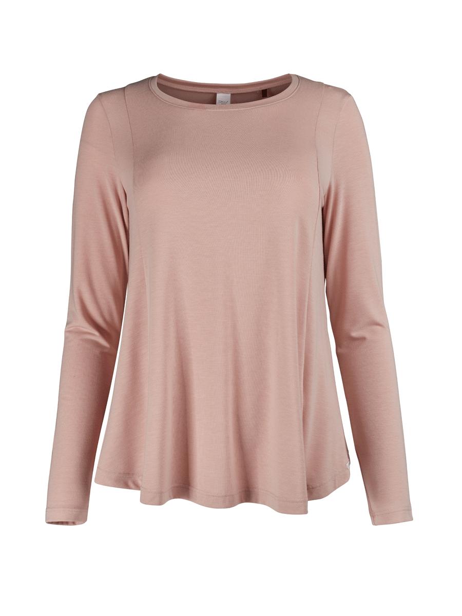 Skiny Sleeå Mix & Match, rosa langermet nattrøye