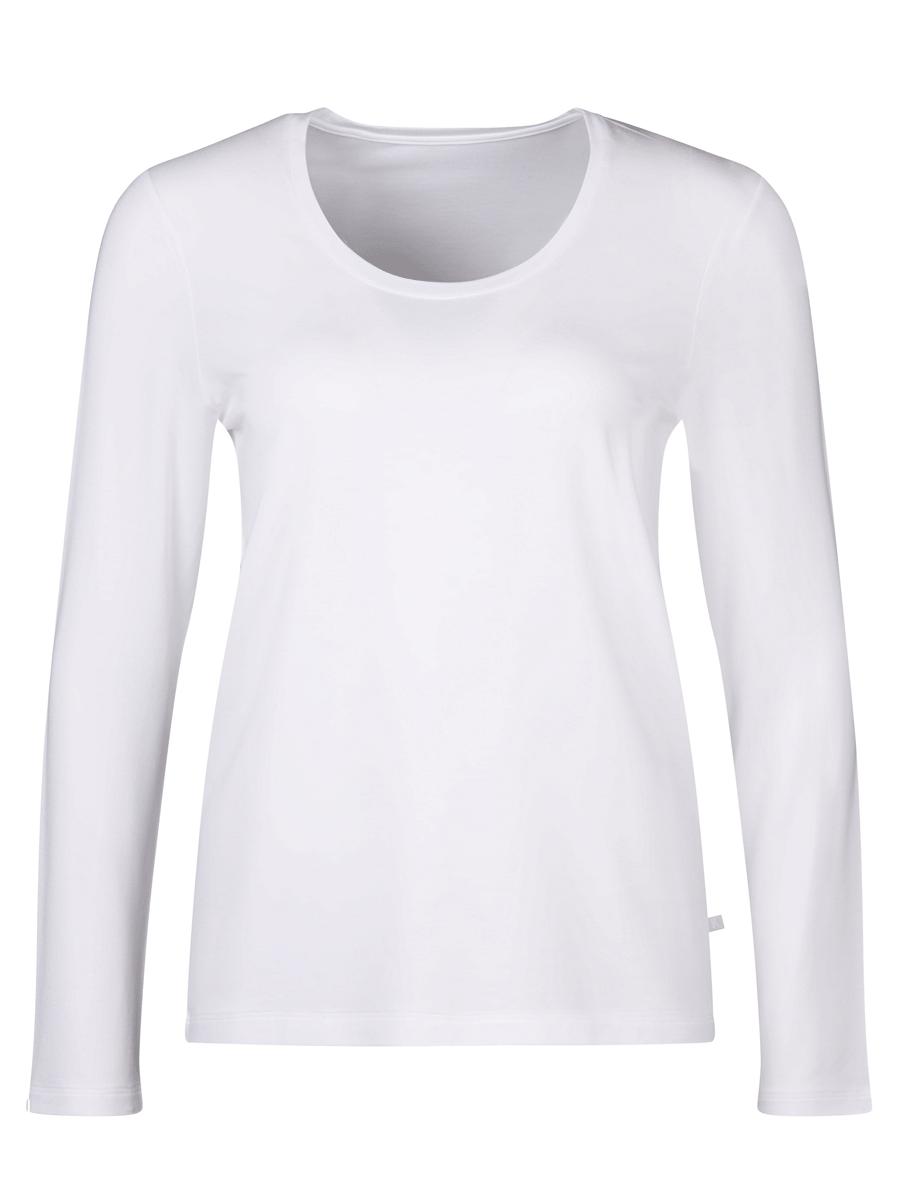 Huber shirt l/s slevve - 24 hours women sleep, hvit