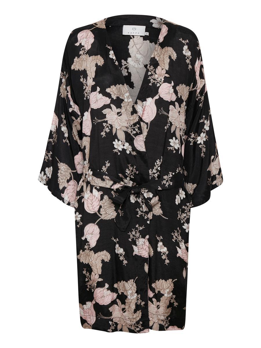 KAFFE KAjilli Kimono, Black deep
