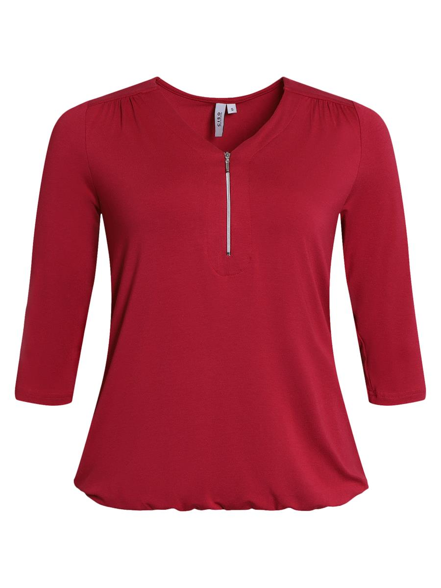 Ciso T-shirt with zipper detail, rosa