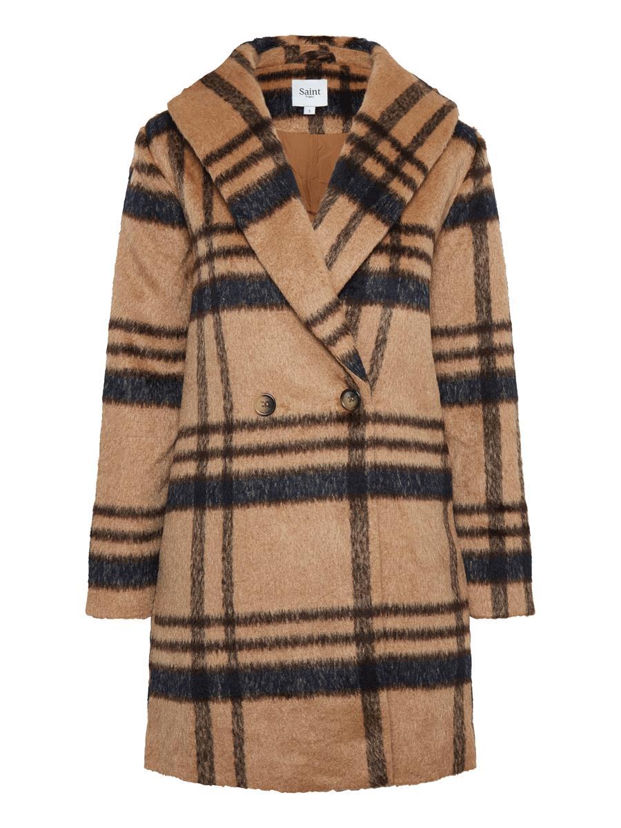 Saint Tropez U7007, woven coat, tobacco