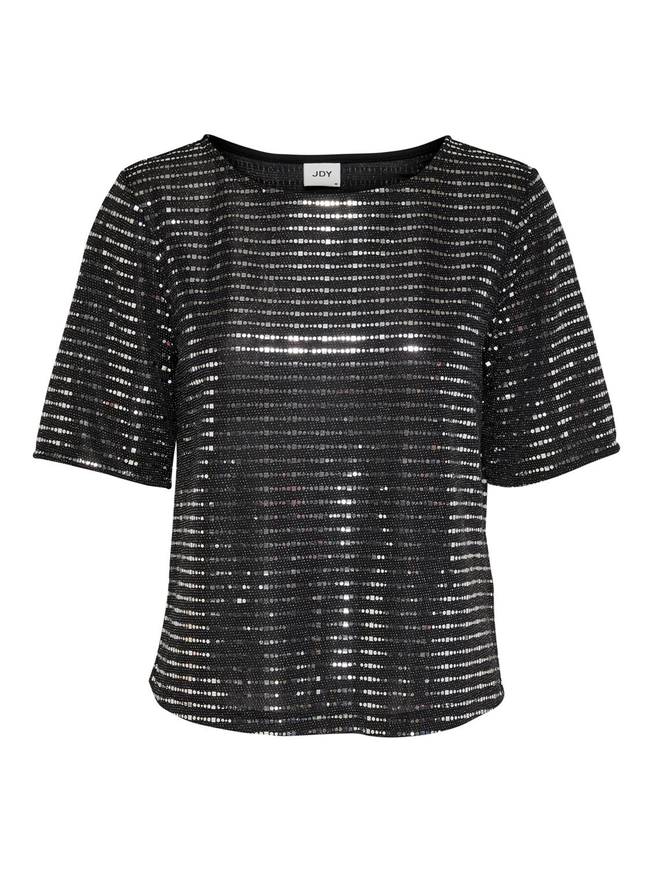 Jacqueline de Young JDYPacey S/S top, black/silver