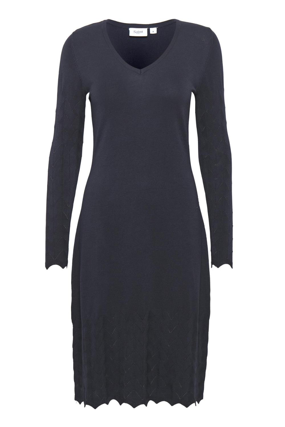 Saint Tropez knitted dress, blue deep