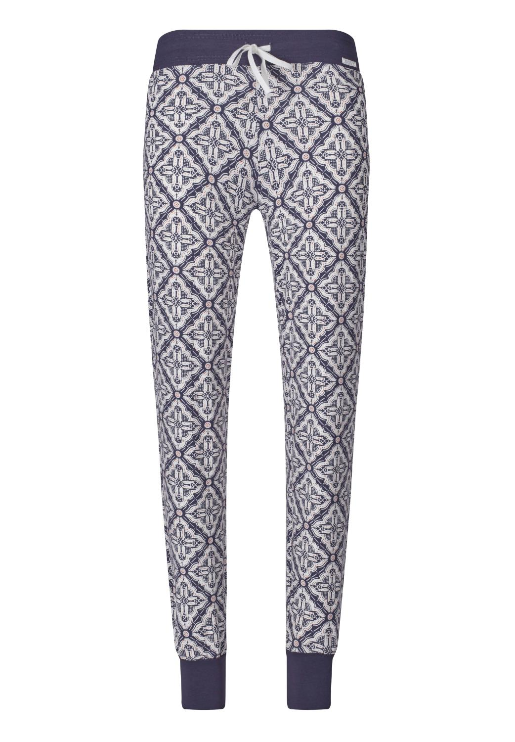 Skiny L. pants long, purpose sleep, purple mosaic